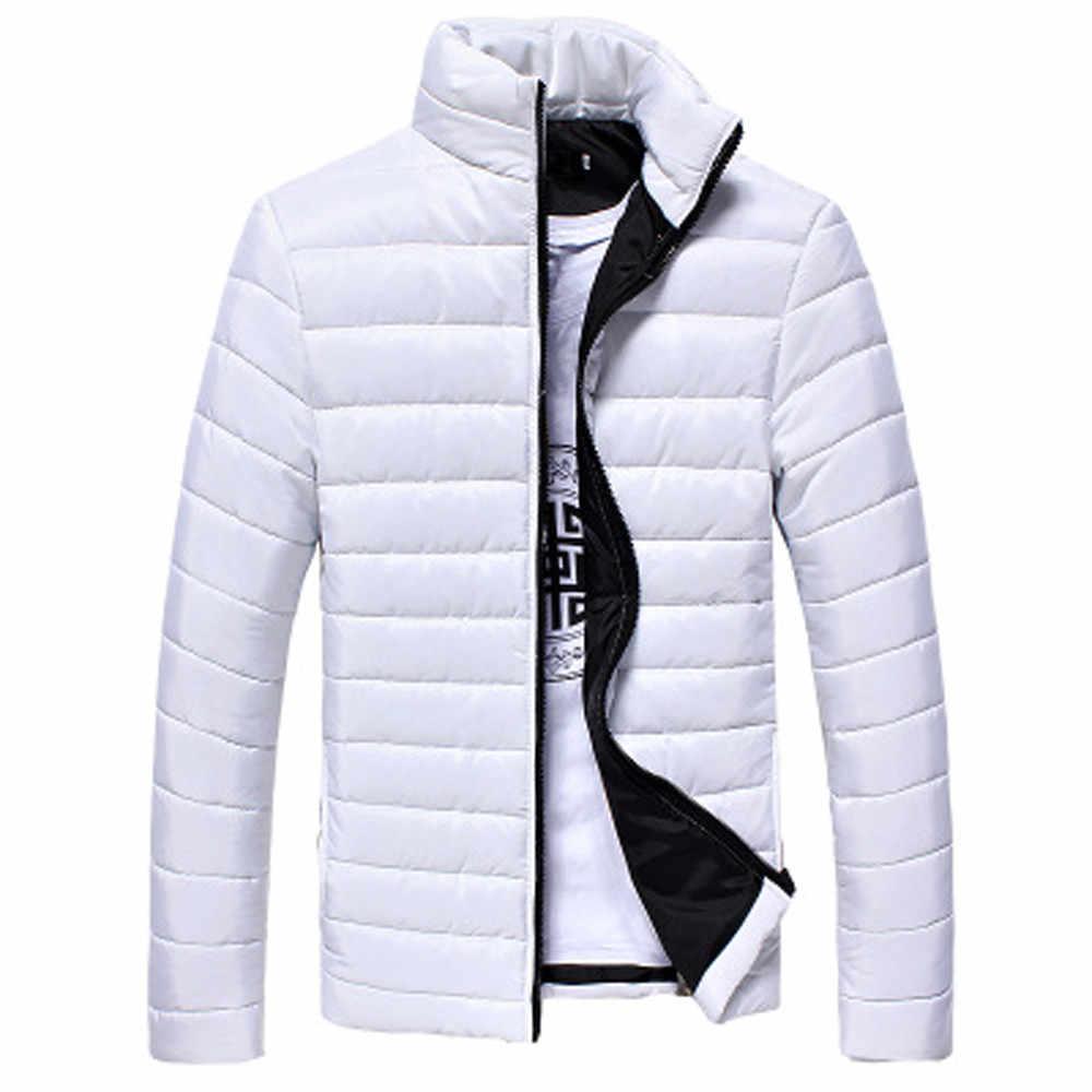 冬コートプラスサイズ S-5XL 男性 New ファッションソリッドコットンスタンドジッパー暖かい秋厚いコートジャケット 9 色 Freeship пальто
