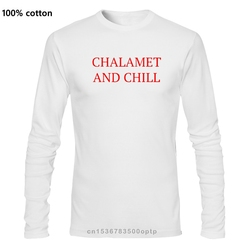 Chalamet and Chill - Timothee Chalamet Mens White Tees T-Shirt Clothing Unisex Fashion T Shirt top tee