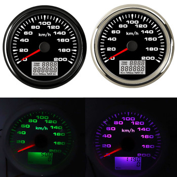 0~120 kmh 85 mm Boat Car GPS Speedometer Waterproof Car Marine Boat GPS Speed Odometers with 7 colors backlight Fit for bmw e38
