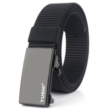 Fasion Men Belt Nylon Belts for men Automatic Buckle Canvas