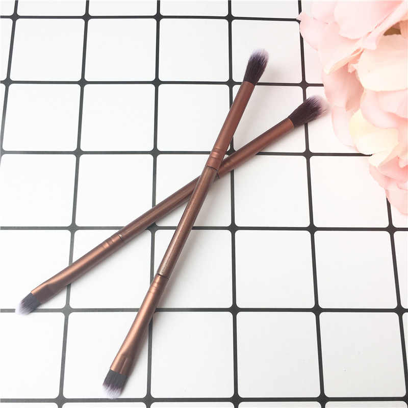 1Pcs Eye Brush Up Kwasten Borstels Verdubbeld Ended Eyeshadow Oogschaduw Make-Up Cosmetische Brush Tool Champagne Gouden Make-Up Borstel