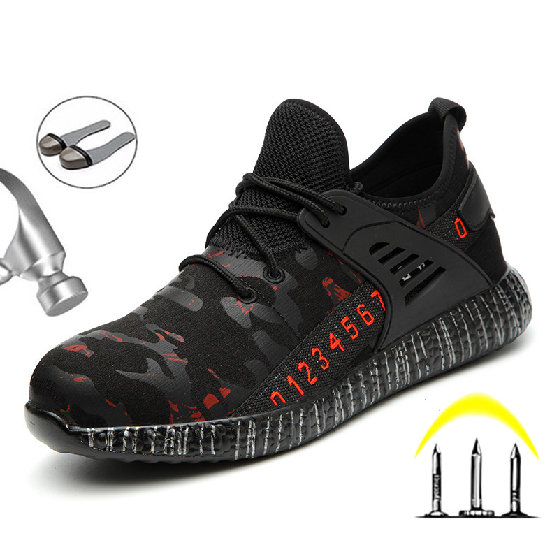 Indestructible Shoes Men Steel Toe Work Safety Boots Anti-puncture Safety Shoes Men Boots Breathable Work Sneakers Male Shoes