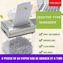 Desktop Paper Shredder Small Mini Portable Office Paper Shredder Household Electric Segment Paper Shredder Business Office
