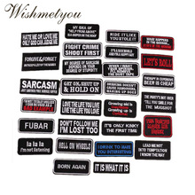 WISHMETYOU English Letter Patches For Clothing Embroidery Badge Decoration Patch Hole Accessories Ironing Cloth Sticker