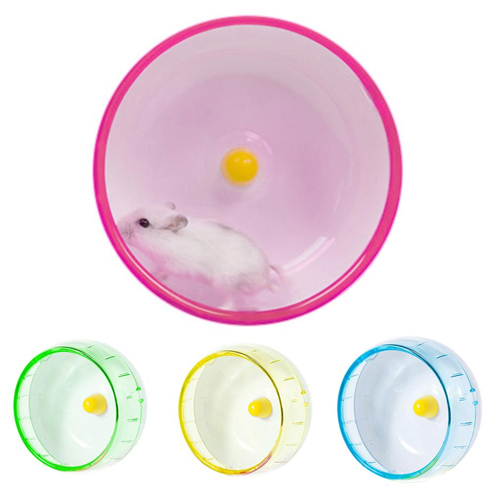 Pet Hamster Mouse Rat Exercise Silent Running Spinner Wheel Cage Playing Toy Pet Rodent Mice Jogging Ball Toy Hamster Gerbil Rat