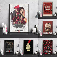 The House of Paper Posters Canvas painting Movie TV Show Season Money Heist Poster and Prints Wall Art Picture for Home Decor