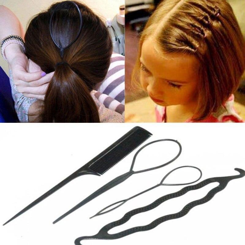 4 шт./лот модные красочные головные повязки «сделай сам» для укладки волос для девочек заколки для волос диск вытягивающие заколки повязки д...