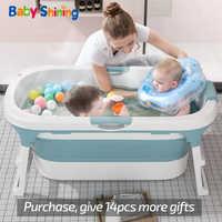 Bebé brillante plegable bañera asiento 0-15Y adulto con bañera con tapa niños baño barril grandes baño nadar niños de 2-3