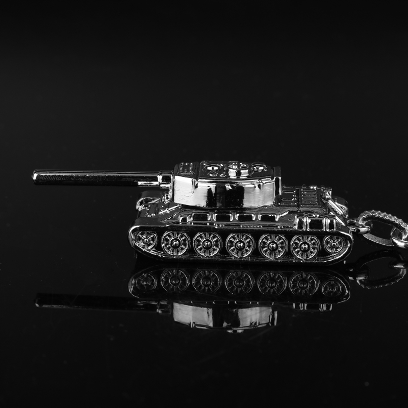 Tank Pendant Keychain Online Game World of Tanks Keyrings Alloy Trinket 3D Tank Bullet Shape Car Key Chain WOT Gifts for Friends image