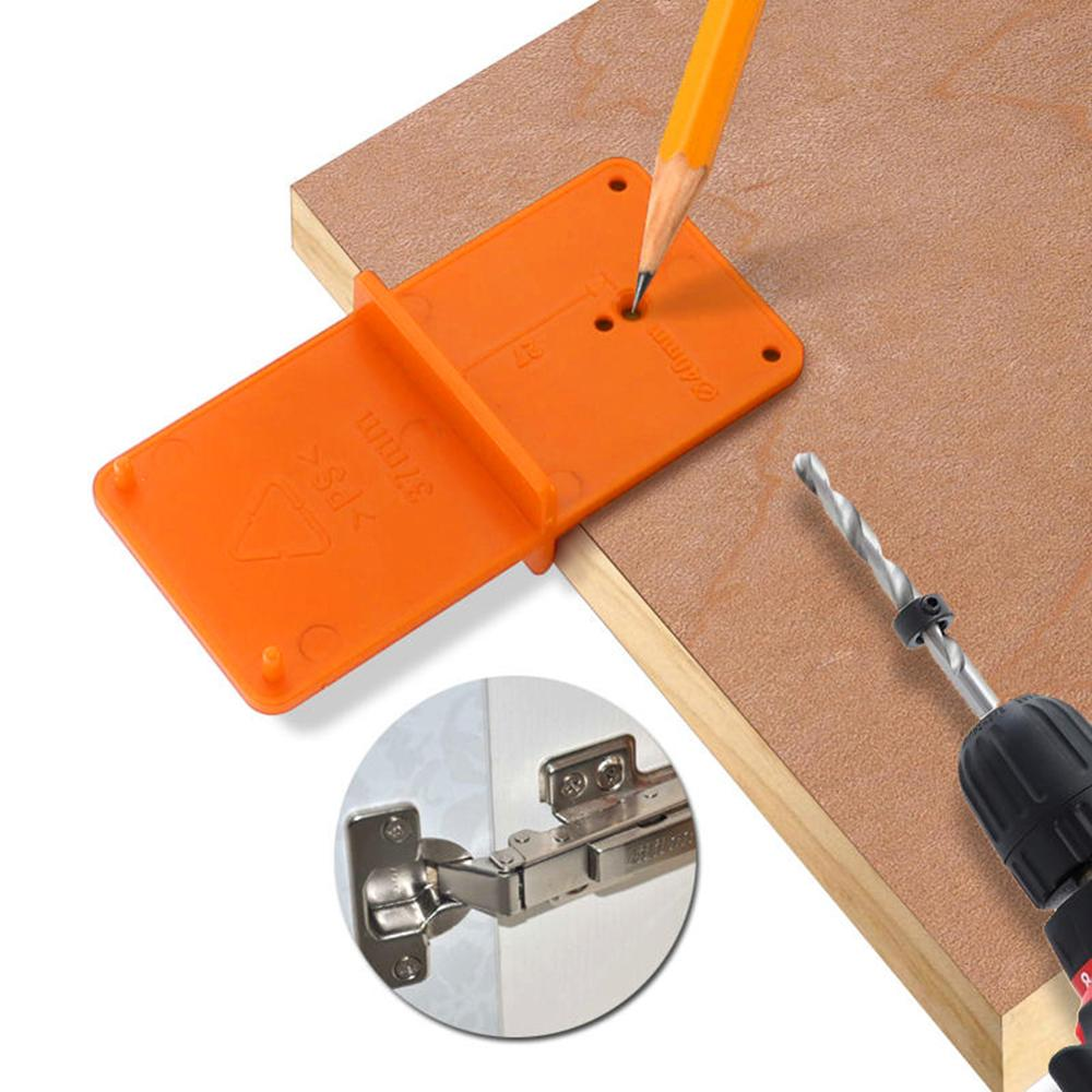 Template Punch-Hinge Guide Drill-Bit Locator Woodworking-Tool Hole-Tools Drill-Hole-Opener