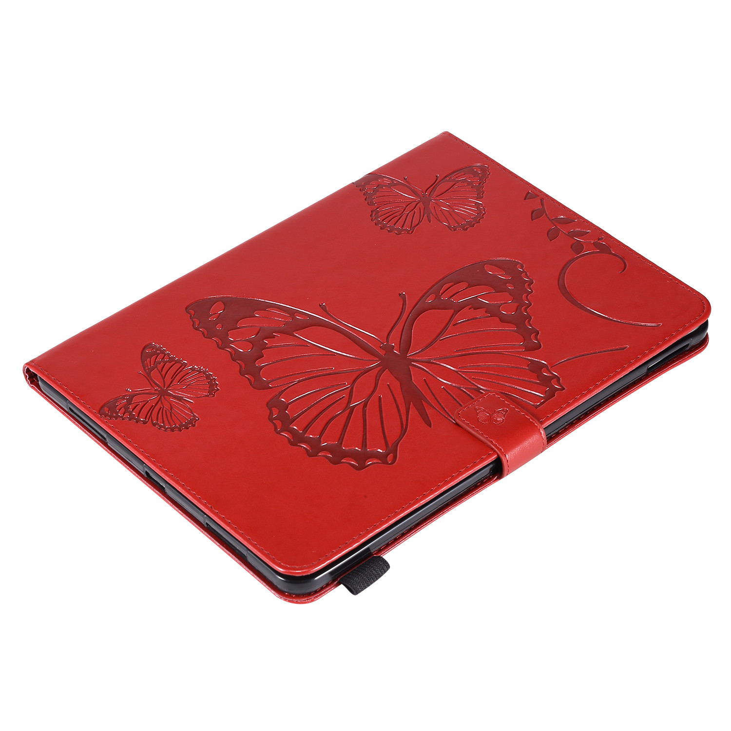 7 Gray Butterfly Tablet Fundas For iPad Pro 12 9 Case 2020 2018 Folding Folio Embossed Cover For