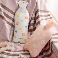 Силиконовая бутылка для горячей воды с милым рисунком, многоразовая теплая зимняя бутылка для воды для студентов