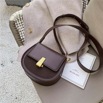2019 New Women Bags Pure Color Leather Shoulder Messenger Bag Fashion Black Women Bags Wide Shoulder Straps Saddle Bags aetoo leather art sen retro shoulder shoulder bag handbags women s vegetable tanned leather saddle bags multi color