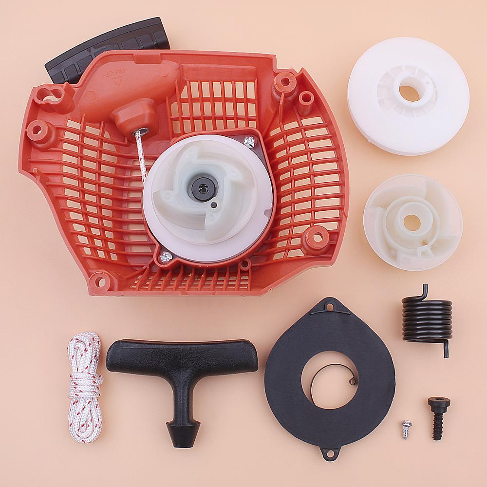 Recoil Rewind Pull Starter For Husqvarna 435 435E 440 440E Pulley Hub Spring Handle Grip Rope Kit Chainsaw 544287002
