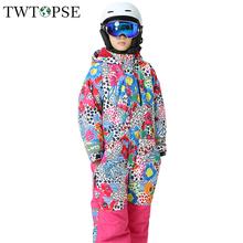 TWTOPSE dla dzieci kreskówki dla dzieci kombinezon narciarski Snowboard narciarstwo garnitur kombinezon jeden kawałek zimowe dla dzieci dziewczyna chłopak na zewnątrz izolowane spodnie kurtka zestaw tanie i dobre opinie Pasuje na mniejsze stopy niezwykle Proszę sprawdzić informacje o rozmiarach ze sklepu Chłopcy Kids Skiing Suit Coverall One Piece Snow Suit