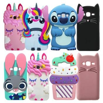 For Samsung Galaxy J1 2016 Case 3D Cartoon Soft Silicone Back Phone Cover For Samsung Galaxy J1 (2016) J120F J120 Funda Coque cute case for samsung galaxy j1 2016 j120 silicon soft back cover for samsung j1 6 j120 j1 2016 j120f sm j120f phone case cover