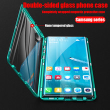 Double Sided Magnetic Metal Case For Samsung Galaxy S20 S21 S30 S10 S9 S8 Plus Note 20 ULtra 10 Pro 8 9 A51 A71 A50 Glass cover