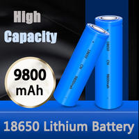 18650 batteria agli ioni di litio 3.7V ad alta capacità 9800mAh AA batterie ricaricabili caricabatterie Lifepo4 per escursionismo torcia a LED