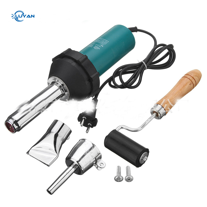 1080W 50Hz AC220V Hot Air Guns Plastic Welding Torch Welder Heat Hot Tools Kit With Nozzle & Roller Welding Machine