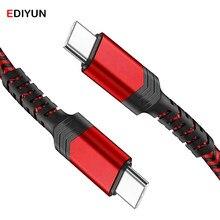 Ediyun usb tipo c cabo micro usb cabo de carregamento rápido usbc para usb c cabo pd 60w para o telefone android tipo c cabos cabo de dados