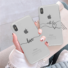 Soft Silicone Luxury Phone Case For iPhone 8 7 Plus Simple Abstract Art Lines Transparent XR 6 6S SE XS MAX
