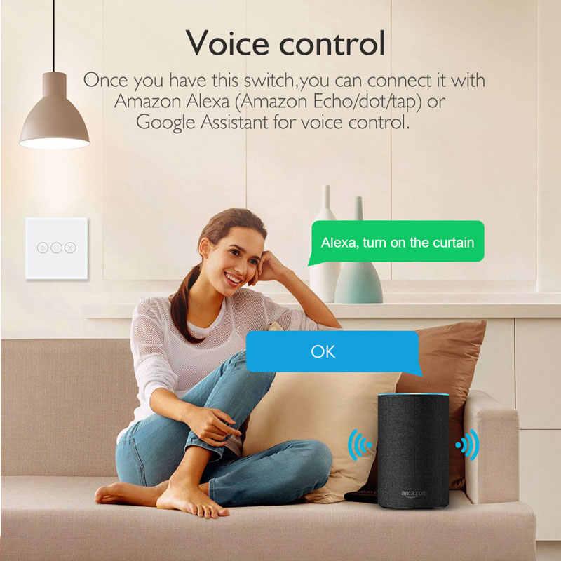 Inteligentne życie przełącznik WiFi kurtyny do elektrycznego zasłona z silnikiem niewidomych rolety Amazon Alexa Google domu sterowanie głosem Tuya