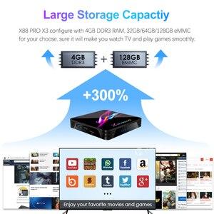 Image 3 - صندوق التلفزيون فونتار X88 برو X3 أندرويد 9.0 4GB RAM 64GB 128GB 32GB Amlogic S905X3 رباعي النواة 1080p 8K واي فاي يوتيوب 2G 16G مجموعة صندوق