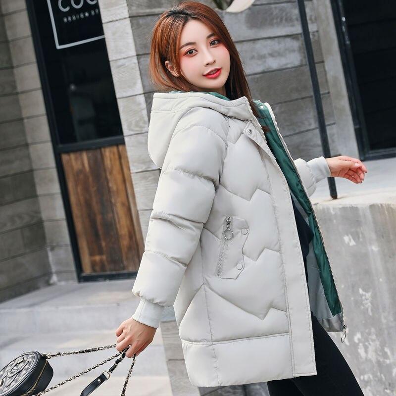 Anti-season Winter New Women Down Cotton Suit Medium And Long Korean Version Fashion 100 Chic Cotton-padded Jacket Cotton Cape