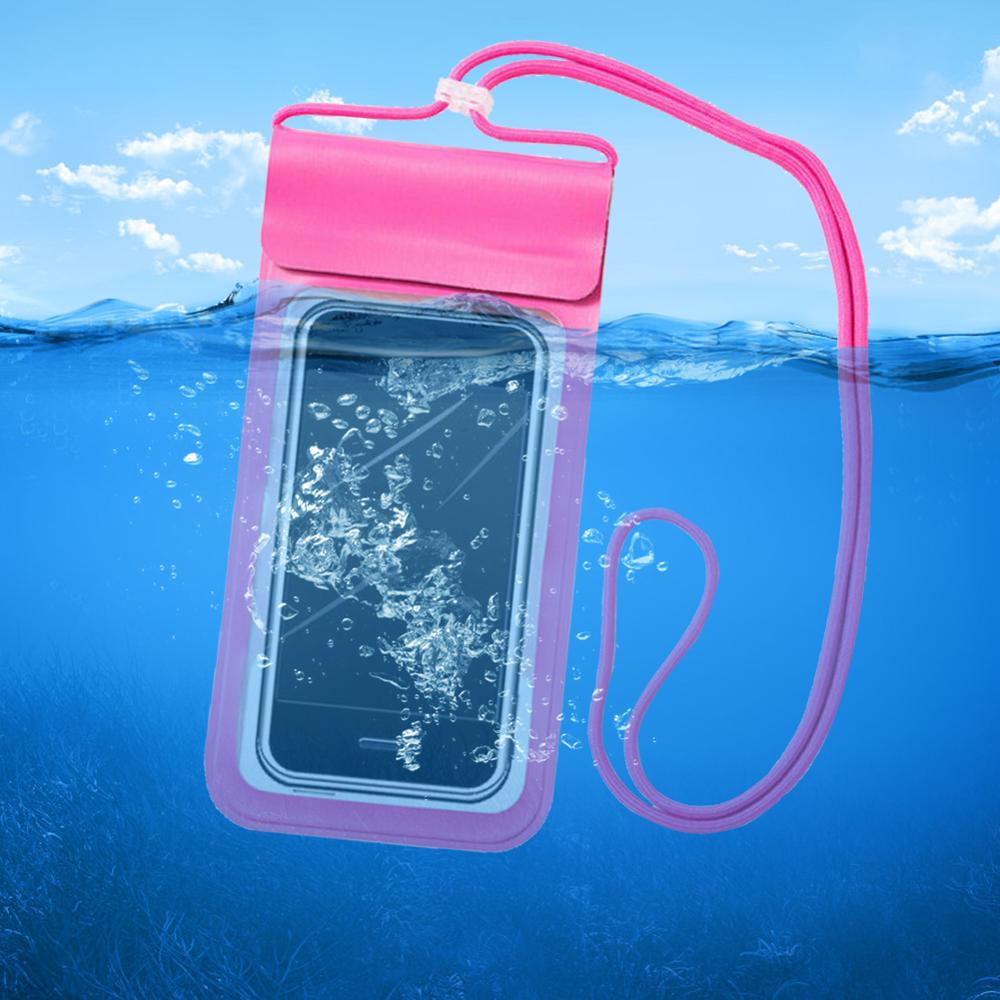 Mobile Phone Dry Bag Pouch Outdoor Diving Surfing Waterproof Phone Bags with Lanyard for Outdoor Mobile Phone Decoration