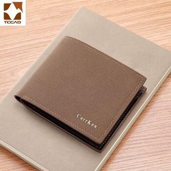 Billetera de cuero sintético para hombre, cartera masculina de cuero sintético en...