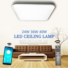 천장 Led 조명 RC 디 밍이 가능한 광장 현대 침실 거실 램프 표면 장착 발코니 24w 36w 40w