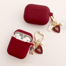럭셔리 진주 케이스 애플 에어팟 1 2 3 에어팟 프로 케이스 TWS 블루투스 이어폰 액세서리 헤드폰 상자 가방