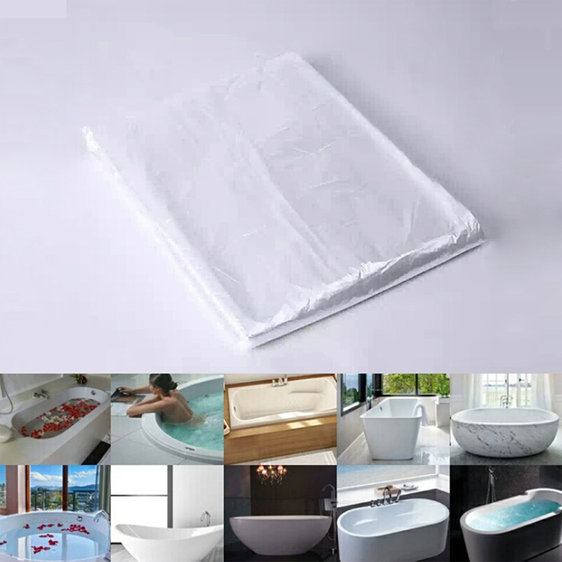 New Thickened Disposable Bathtub Cover Bag Hotel Health Bath Tub Film Home Salon Household Bag Lining Clear