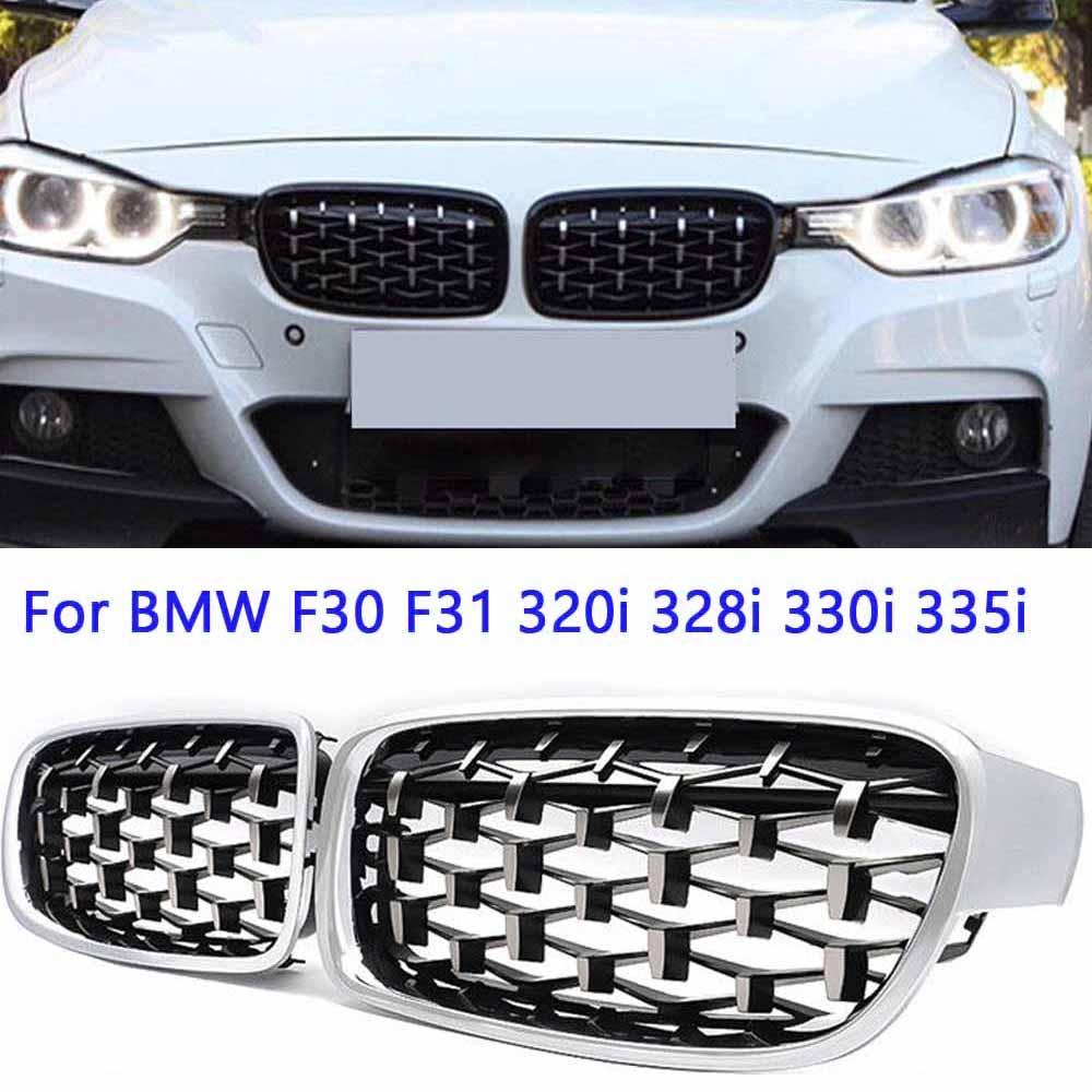Autoparts 4pcs Silver Interior Door molding Strip Cover Trim Set for BMW 3 Series F30 F31 320i 328i 330i 335i 340i 2013-2018 2013 2014 2015 2016 2017 2018