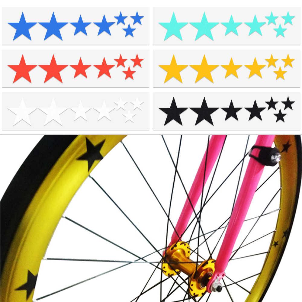 Reflector Frame Wheel Sticker Decal Accessories Bike Reflective Stickers