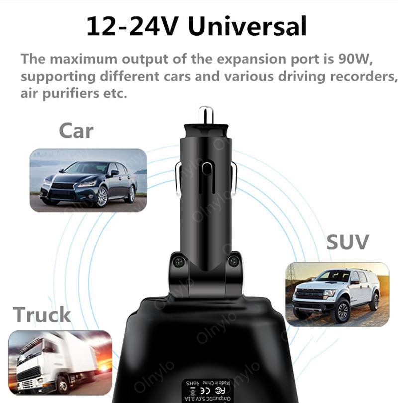 3.1A Autolader Dual Usb Laders Voor Iphone Huawei Samsung Sigarettenaansteker Splitter Plug Accessoire Snel Opladen 5