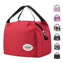 Aosbos 2020 wodoodporny Nylon przenośny zamek termiczny Oxford izolowane torba na Lunch Box posiłek Tote Bag dla kobiet dzieci Tote torby na żywność tanie tanio CN (pochodzenie) Poliester A818