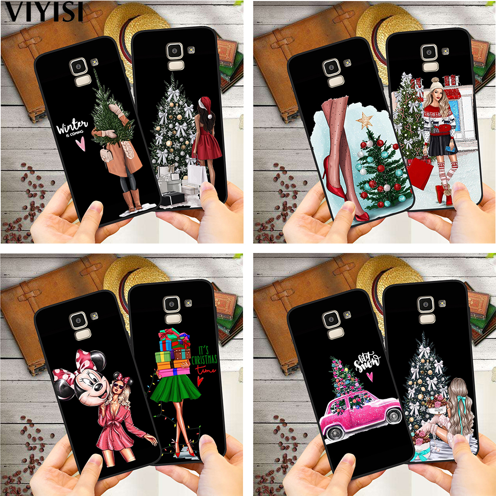 <font><b>Sexy</b></font> Christmas Tree Girl Gift Phone <font><b>Case</b></font> For Samsung Galaxy S10 <font><b>case</b></font> <font><b>S8</b></font> S6 S7 S9 J2 J3 J5 J7 J4 J6 J8 2018 Plus Etui Coque Cover image