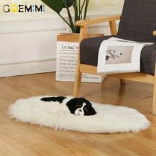 Dog Pet Bed for large dogs Cat Blanket Mat Warm Faux Fur Plush Small Medium Dogs Cushion