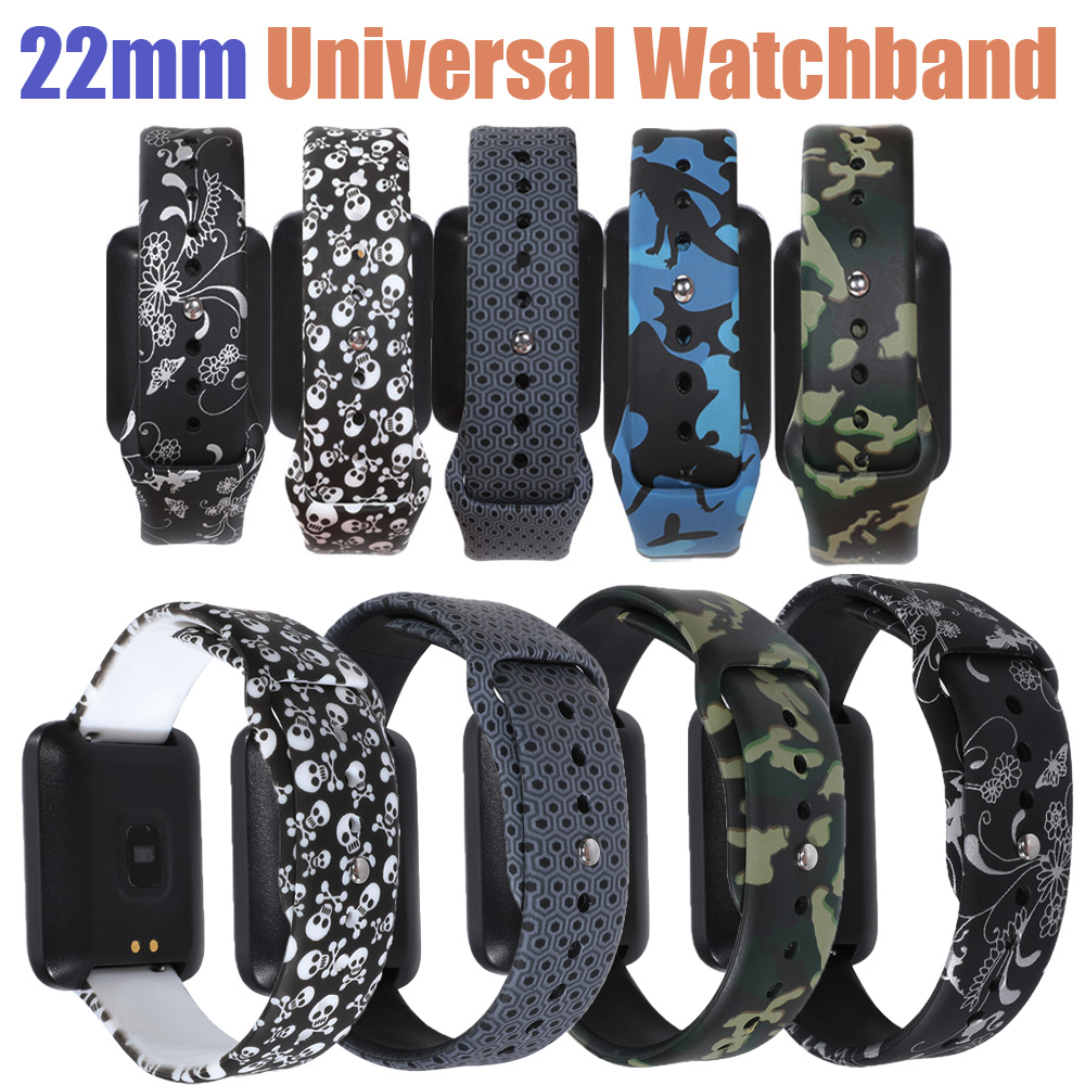 22mm Man Watchband For Samsung Galaxy Gear S3/Amazfit GTR 47mm Replacement Strap For Samsung Galaxy Watch 46mm Cool Wristbands