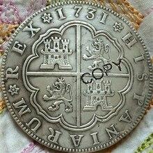 1731 Espanha 8 Reales moedas