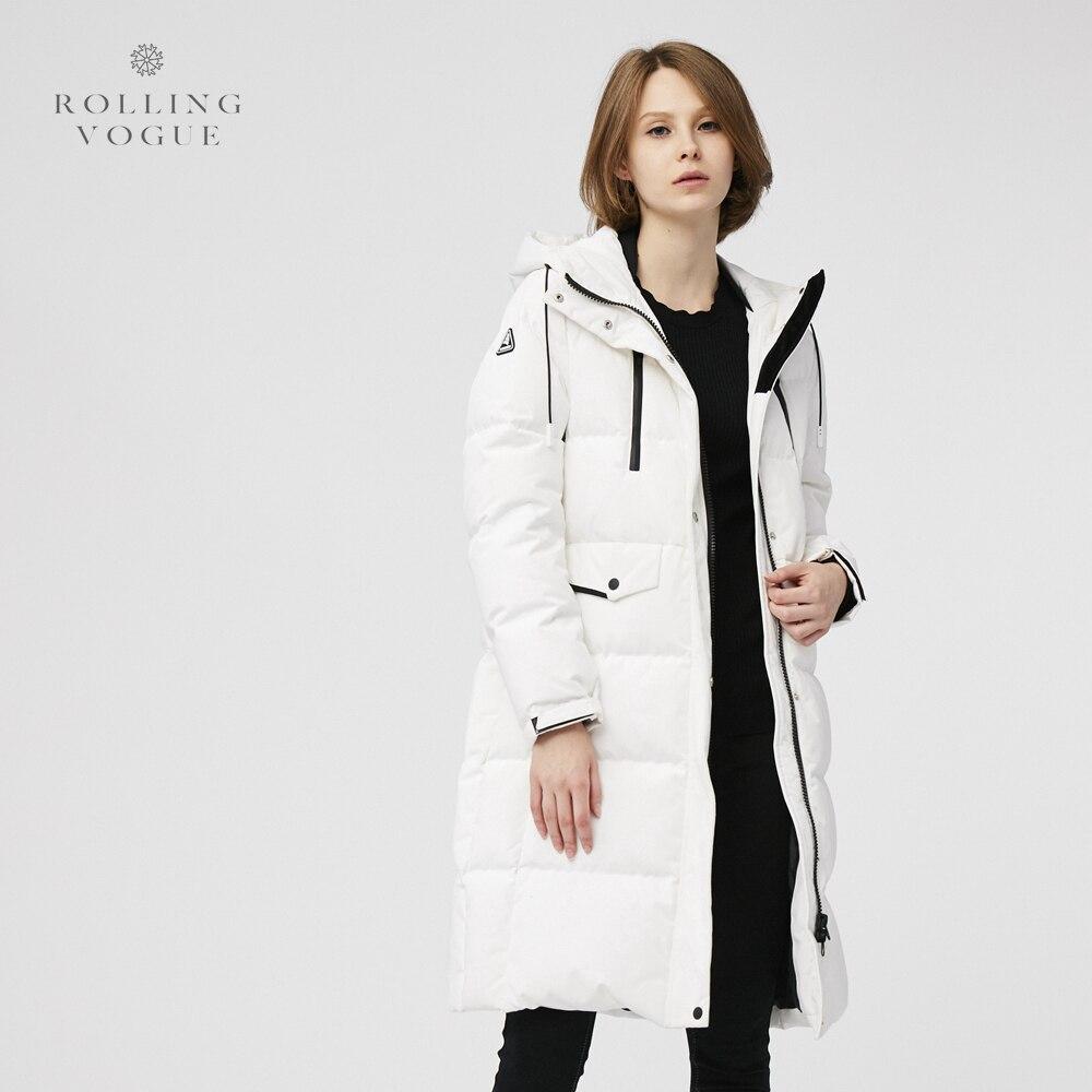 2019 New Winter 90% White Duck Down Coat Long Women Oversize Streetwear Overcoat Plus Size Hooded Cocoon Parka Windbreaker