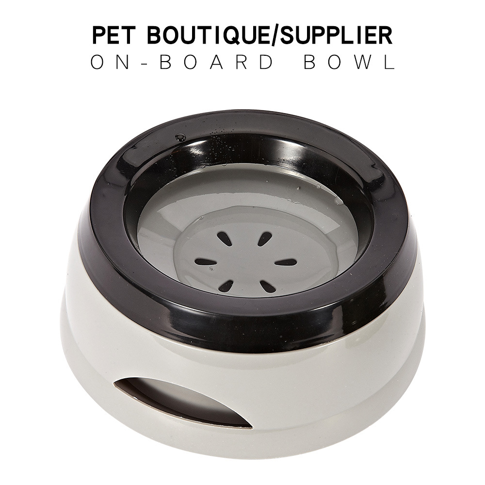 Pet Dog Splash Drinking Water Bowl Dog Cat Floating Not Wetting Mouth Bowl Portable Anti-overflow Dogs Travel Bowls Water Feeder