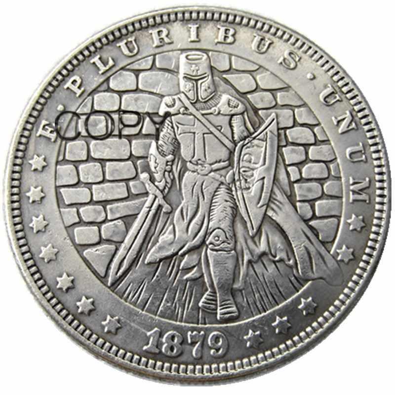 HB (86) ONS Hobo 1879 Morgan Dollar Soldaat Verzilverd Kopie Munten