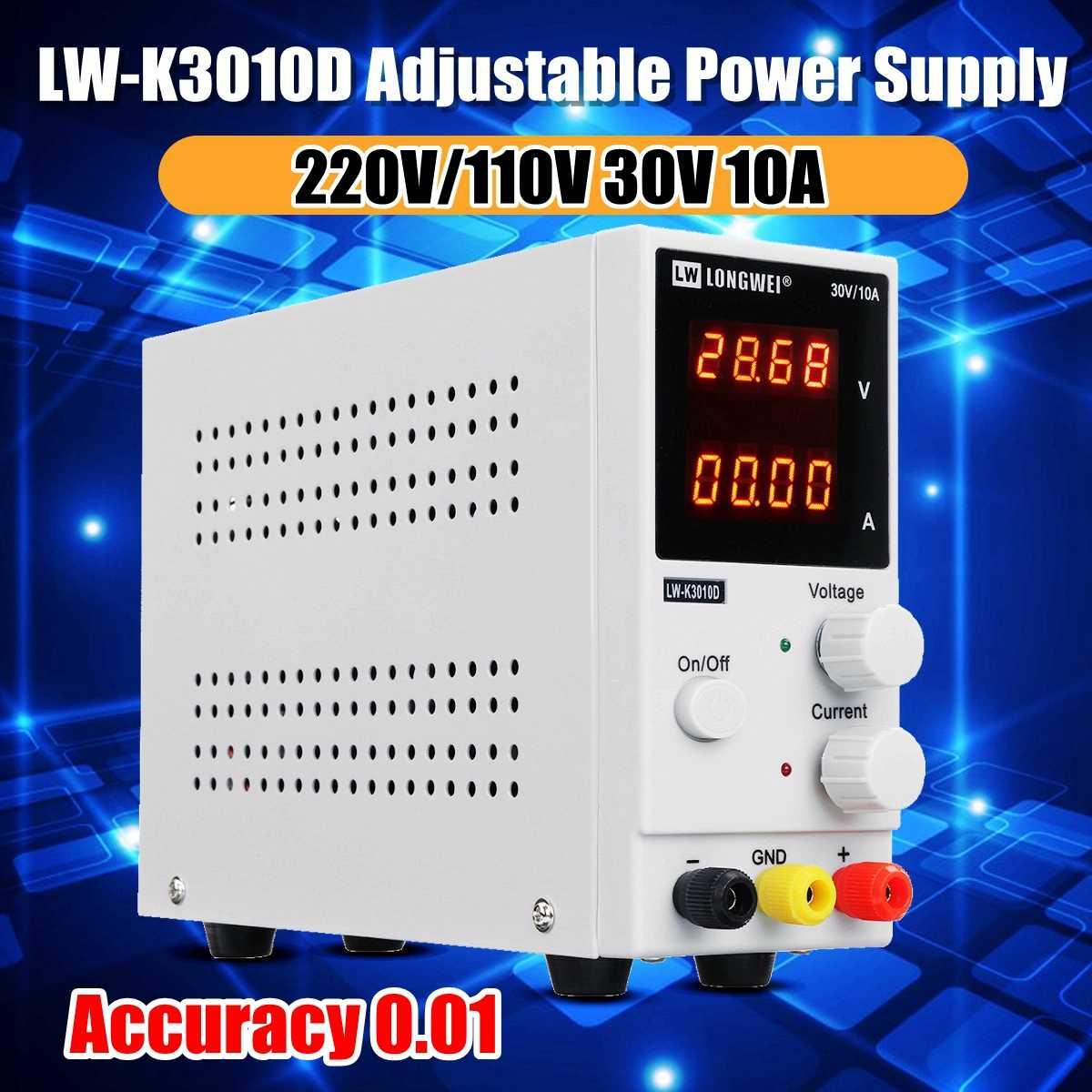 Fuente de alimentación de laboratorio, minifuente de alimentación de laboratorio con pantalla de 4 dígitos, regulador de voltaje de 220 V, 110v, CC, 30v, 10A