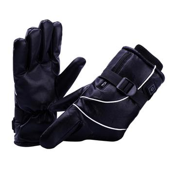 Motorcycle Electric Heated Gloves 2200MAh Lithium Battery Heating Waterproof Windproof Gloves Cold Winter Travel Cycling Skiing