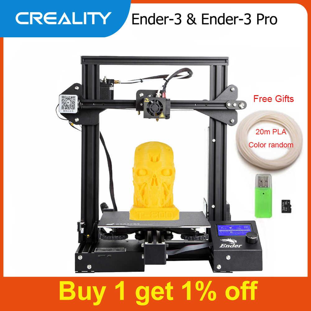 Creality 3D Ender-3 / Ender-3 פרו 3D מדפסת DIY ערכת עצמי להרכיב אנדר 3 עם שדרוג לחדש הדפסת MeanWell אספקת חשמל