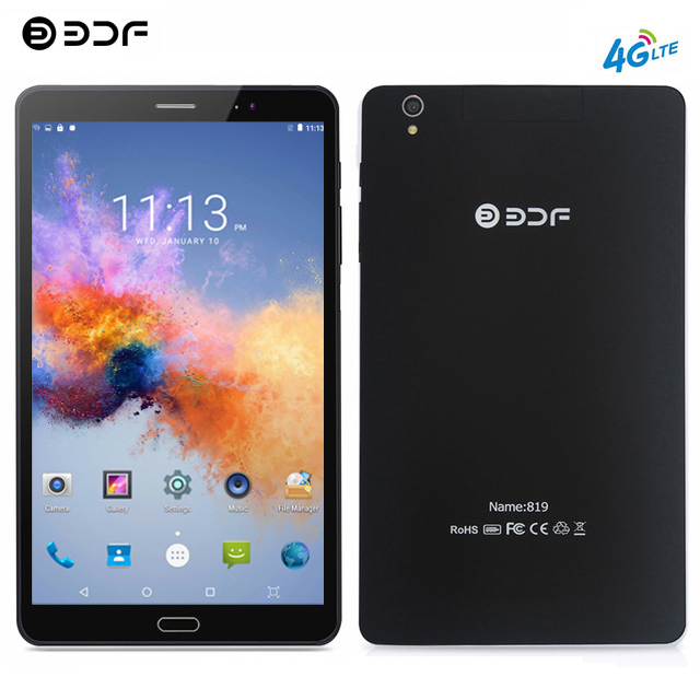 BDF 8 Inch Tablet Pc 4G LTE Phone Call Tablet Dual SIM Card 1920*1200 IPS Tab 4GB/64GB Tablet Android 7.0 Octa Core Pc Table 8