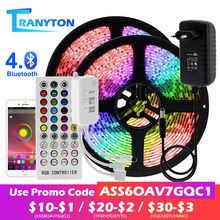 LED Strip Light RGB 5050 2835 Flexible LED Light Strip 10M 15M 20M 12V LED Tape + Power Adapter + Bluetooth Music Controller