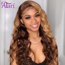 Perruque Lace Front wig indienne naturelle, cheveux humains, Loose Wave, Transparent, ombré, vierge, 13x6, pre-plucked, pour femmes noires